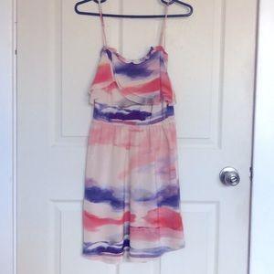Aritzia Wilfred silk Emmanual tie dye dress XSmall